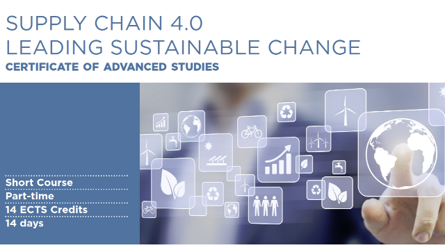 Supply Chain 4.0 - Leading Sustainable Change New Course